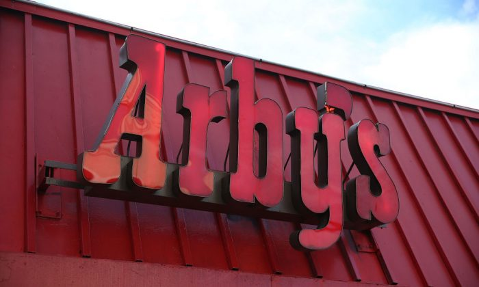 An Arby's restaurant sign. (Joe Raedle/Getty Images)