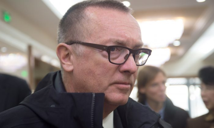 Jeffrey Feltman, the UN's under secretary general for political affairs, arrives at the Pyongyang International Airport on Dec. 5, 2017. Feltman's visit, the first by a UN diplomat of his rank since 2010, comes less than a week after North Korea said it test-fired a new ballistic missile capable of reaching the United States. (KIM WON-JIN/AFP/Getty Images)