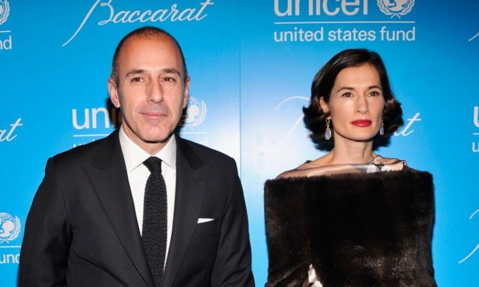 Matt Lauer and Annette Lauer attend the Unicef SnowFlake Ball at Cipriani 42nd Street on Nov. 27, 2012 in New York City.
