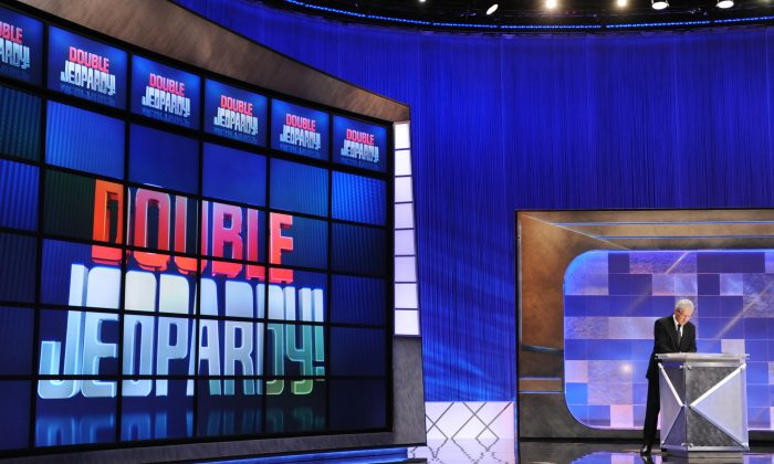 "Record-breaking ""Jeopardy"" game show champion and former college professor Stephanie Jass has been charged with two cybercrime felonies.  (Amanda Edwards/Getty Images)"