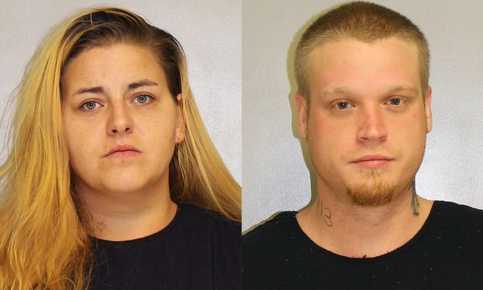 Tosha Mae Daley (L) and Nicholas Vonallen Shinn have been charged with murdering Daley's stepmother, Jamie-Ruth Daley. (Franklin County Jail)