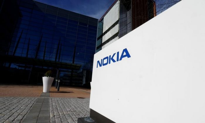 A Nokia logo is seen at the company's headquarters in Espoo, Finland, May 5, 2017. (Reuters/Ints Kalnins)