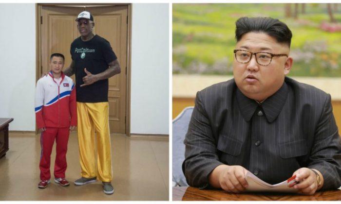 Dennis Rodman (L) and Kim Jong Un (R). (Getty Images)