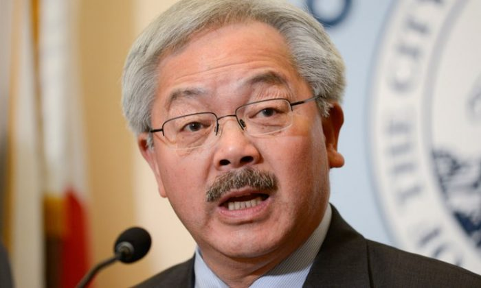 San Francisco Mayor Ed Lee speaks during a news conference at city hall in San Francisco, California, U.S., January 31, 2017. (REUTERS/Kate Munsch/File Photo)