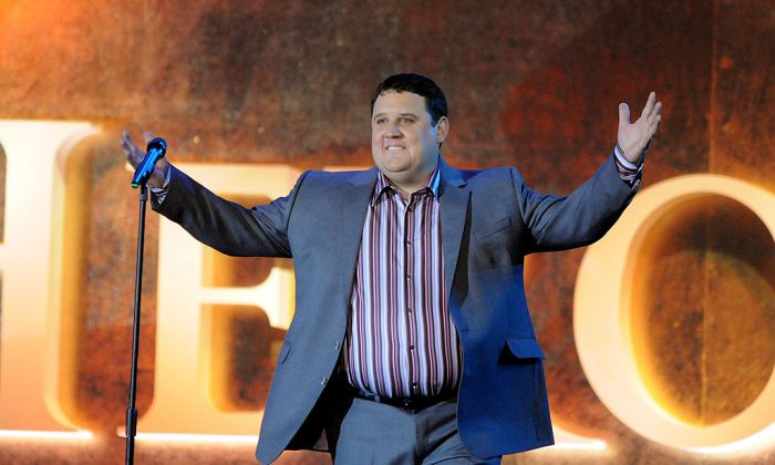 Peter Kay performs live on stage during the Heroes Concert at Twickenham Stadium, in aid of the charity Help For Heroes in London on Sept. 12, 2010. (Jim Dyson/Getty Images)