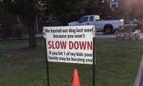 Family Posts Unforgettable Warning Sign to Speeding Drivers