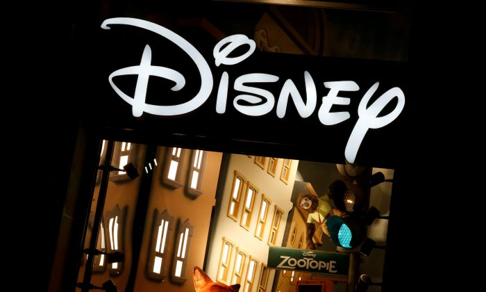 The logo of the Disney store on the Champs Elysee is seen in Paris, France, on March 3, 2016. (REUTERS/Jacky Naegelen/File Photo)