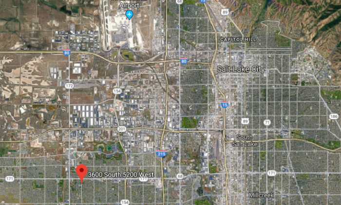 The approximate location where the body of Kailey Vijil was found in West Valley City, Utah, on July 17, 2015. (Screenshot via Google Maps)
