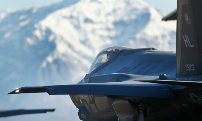 An F-35 fighter jet taxies out for a training mission at Hill Air Force Base on March 15, 2017 in Ogden, Utah. (George Frey/Getty Images)