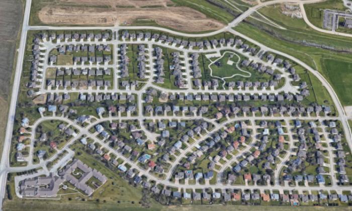 The area in Sarpy County, Nebraska, where Cheri Langill was found alive. (Screenshot via Google Maps)