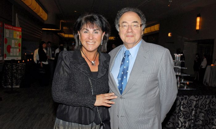 Honey and Barry Sherman, Chairman and CEO of Apotex Inc., are shown at the annual United Jewish Appeal (UJA) fundraiser in Toronto, Ontario, Canada on Aug. 24, 2010. (The Globe and Mail/Janice Pinto/via Reuters)
