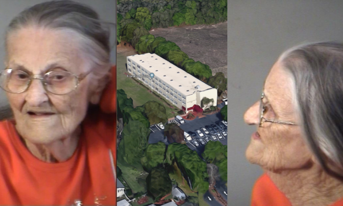 Juanita Fitzgerald narrowly avoided spending her 94th birthday in jail after getting arrested on Tuesday, Dec. 12, 2017, for refusing to leave the premises of a facility she had been evicted from. (Lake County Sheriff)