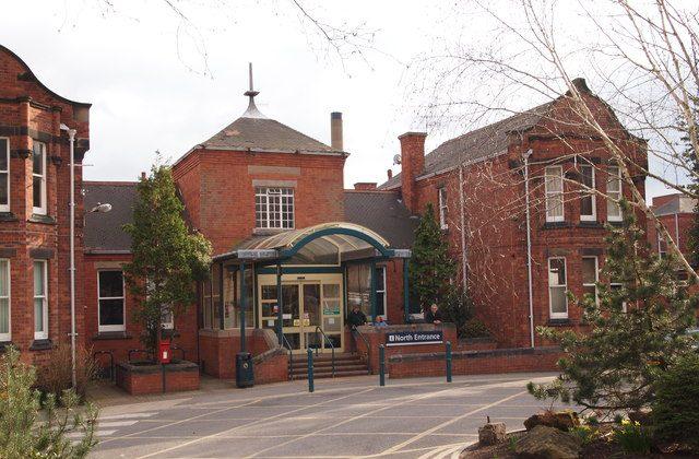 "Nottingham City Hospital. (""Nottingham - City Hospital"" by David Hallam-Jones/geograph [CC BY-SA-2.0 (ept.ms/2utDIe9)])"