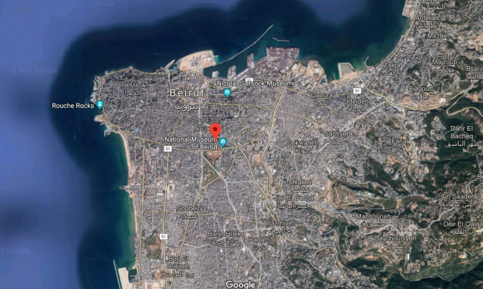 The suspect reportedly picked Dykes up in his taxi in Beirut's Gemmayzeh district on Friday evening. (Screenshot via Google Maps)