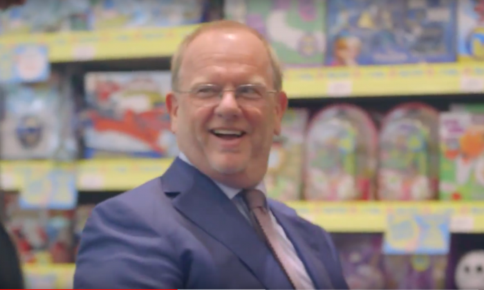 Gary Grant, owner of U.K. toy store The Entertainer in a video uploaded to the company's Youtube on Aug. 3, 2016. (Screenshot via The Entertainer/Youtube)
