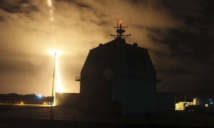 The Missile Defense Agency conducts the first intercept flight test of a land-based Aegis Ballistic Missile Defense weapon system from the Aegis Ashore Missile Defense Test Complex in Kauai, Hawaii, Dec. 10, 2015.  (Leah Garton/U.S. Missile Defense Agency/Handout via Reuters)
