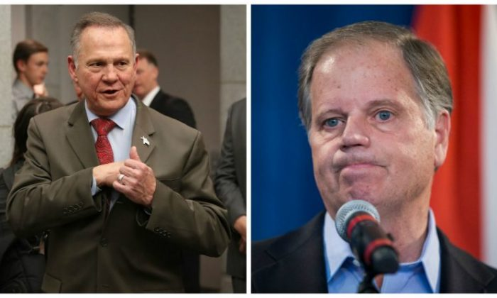 Roy Moore and Doug Jones (Getty Images)