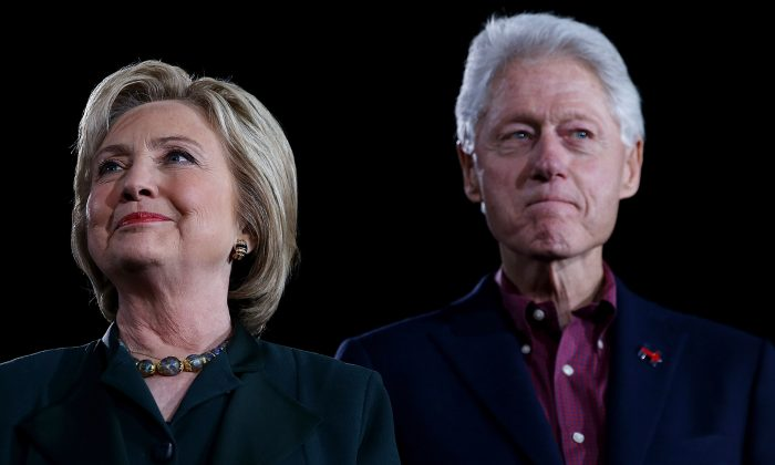 Former Secretary of State Hillary Clinton and former President Bill Clinton in Las Vegas on Feb. 19, 2016.(Justin Sullivan/Getty Images)