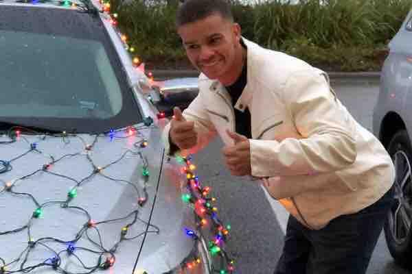 Brandon Wooden, the man behind the bright lit Christmas light car. (On behalf of Brandon/GoFundMe)