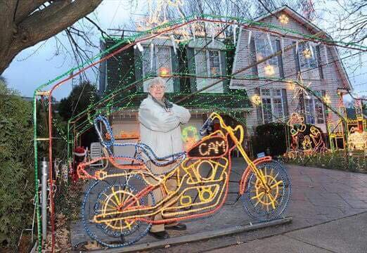 A man famous for a setting up spectacular holiday decorations on and around his house in Ontario, Canada, every year died on Dec. 18, while tending to the display. (Musson's Famous Christmas Display)