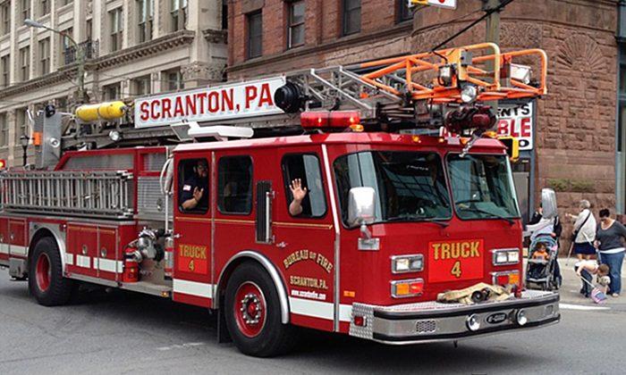 Truck 4, Scranton Fire Department. (Lackawanna County/Pinterest)