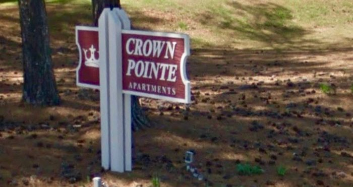 Crown Pointe Apartments, the site of a Christmas Eve fire where 54 people were displaced in Spartanburg, South Carolina on Dec. 24. (Screenshot via Google Maps)