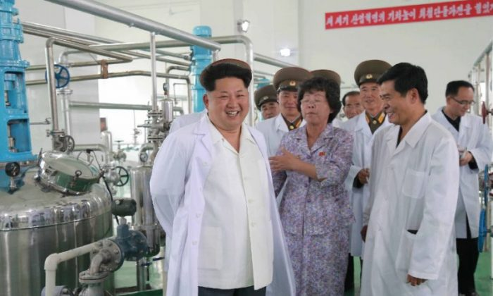 North Korean leader Kim Jong Un visits the Pyongyang Bio-technical Institute in a photo experts say reveals equipment that could be used to produce anthrax. (North Korean state media)