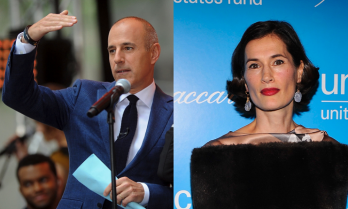 Matt Lauer (L) at Rockefeller Plaza in New York City on June 19, 2015. (Photo by Brad Barket/Getty Images). Annette Roque (R) at the Unicef SnowFlake Ball at Cipriani 42nd Street in New York City on November 27, 2012. (Photo by Stephen Lovekin/Getty Images)