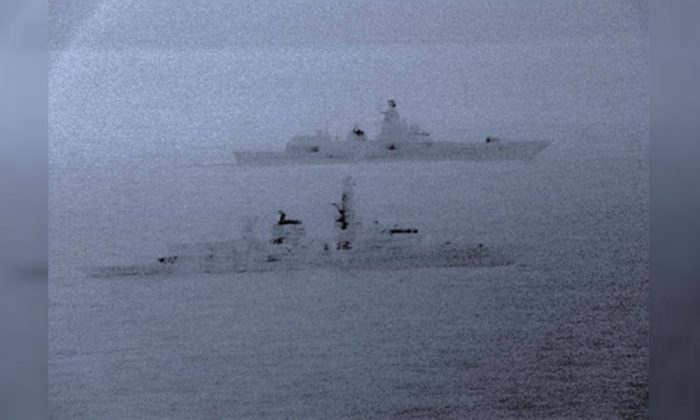 British ships shadowed a number of Russian vessels over the holidays, which the Royal Navy said traversed U.K. waters. (Royal Navy)