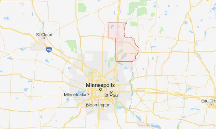 Chisago County, Minn. (Screenshot via Google Maps)