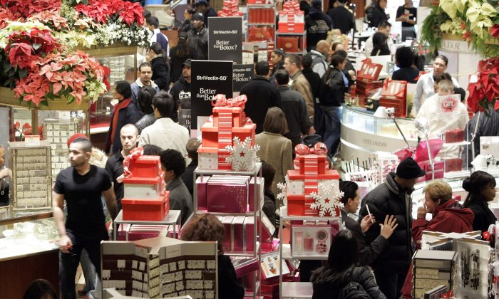 Christmas gifts in a file photo. (Stephen Chernin/Getty Images)