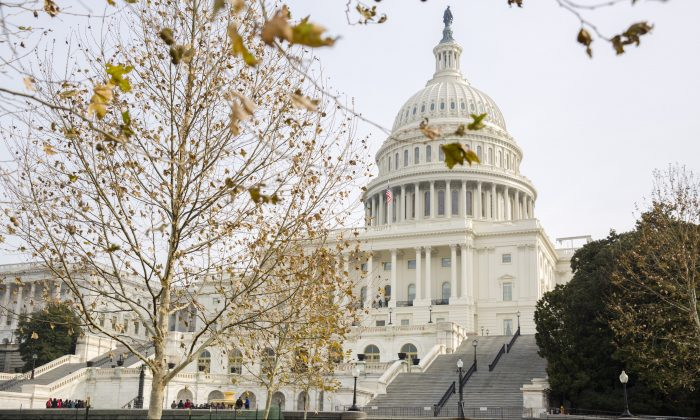 The Capitol Building in Washington on Dec. 4, 2017. (Samira Bouaou/The Epoch Times)