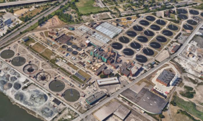 Water Resource Recovery Facility in Detroit, Michigan. (Screenshot via Google Maps)