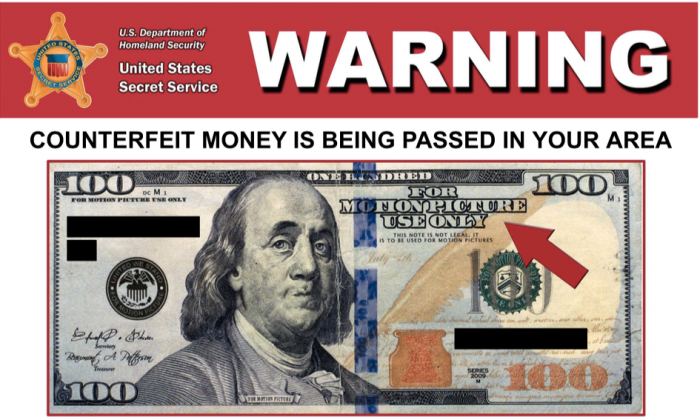 El Paso, Texas, police are warning people about money used on movie sets being used as legal tender in the city. (El Paso Police)