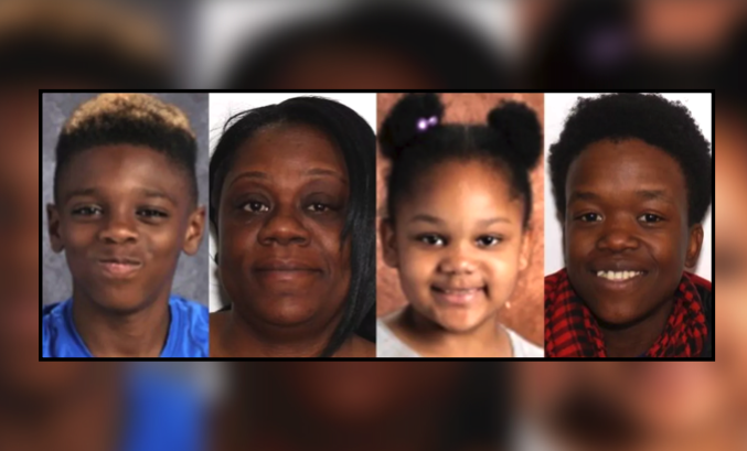 "Two suspects have been charged with murder in the quadruple homicide of two children and two women in Troy, New York. (L-R) Jeremiah ""JJ"" Myers, 11, Shanta Myers, 36, Shanise Myers, 5, Brandi Mells, 22 –– the victims, whose bodies were found in a Troy apartment on Tuesday, Dec. 26. (Troy Police Department/Background image via MapQuest)"