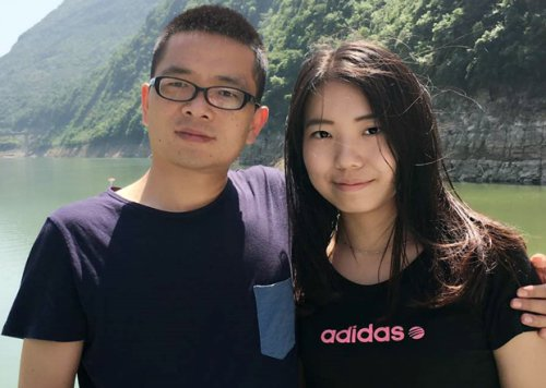Chinese dissident writer Li Xuewen and his girlfriend, Huang Simin. Li was arrested on Dec. 19, 2017, at a metro station in Guanzhou, China. (Radio Free Asia)