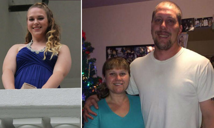 Brittany Kologi (L), and her parents (R) Steven and Linda Kologi, in an undated image uploaded to the crowdfunding site Go Fund Me, following their deaths by shooting on Dec 31 2017. (GoFundMe)