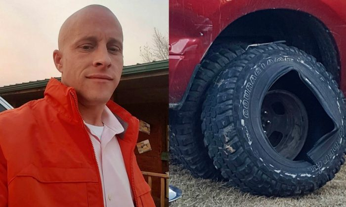 Ryan Hansen was killed when the tire on his truck exploded in Azle, Tx. on Dec. 23. (Image via David Perkins)