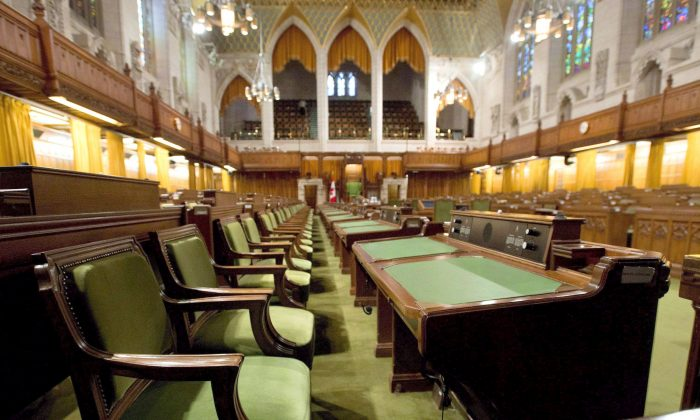 The House of Commons sits empty during summer break. (The Canadian Press/Adrian Wyld)