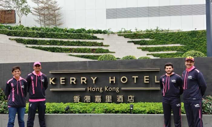 Players of HKT20Blitz team Hung Hom JD Jaguars are now supported by big brands like Kerry Hotel. (Hung Hom JD Jaguars)
