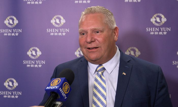 Doug Ford on Shen Yun: 'Absolutely amazing! You have to go see it'