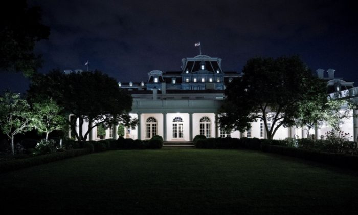A view of the West Wing of the White House from the Rose Garden in Washington, DC on May 27, 2017 . (Brendan Smialowski/AFP/Getty Images)