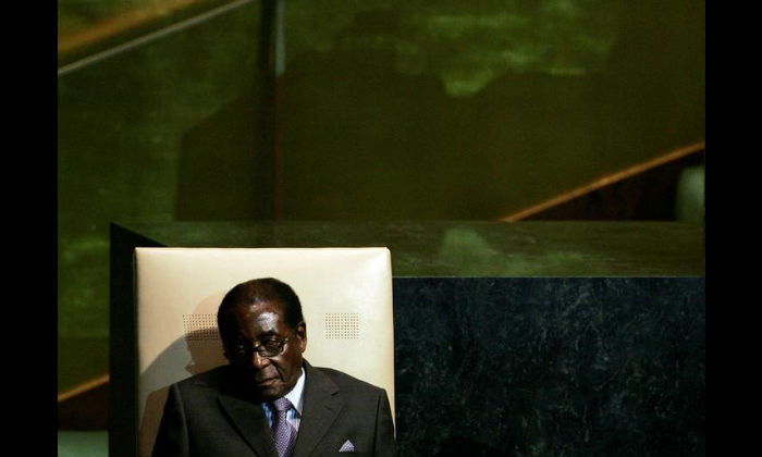 President of the Republic of Zimbabwe Robert Mugabe addresses at the 63rd United Nations General Assembly at U.N. headquarters in New York Sept. 25, 2008. (Reuters/Eric Thayer/File Photo)