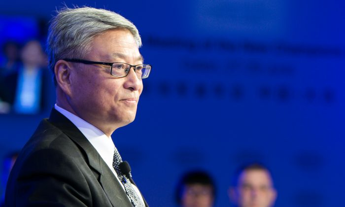 Yan Xuetong, Dean of the Institute of International Relations at China's Tsinghua University speaks at World Economic Forum in Dalian on June 29, 2017. In a recent interview with Chinese state media, Yan praised U.S. President Trump's new national security strategy and said that it could restore U.S. influences around the world. (Photo via World Economic Forum/Sikarin Fon Thanachaiary)