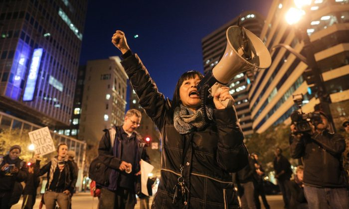 Yvette Felarca in Oakland, Calif., on Dec. 4, 2014. (Elijah Nouvelage/Getty Images)