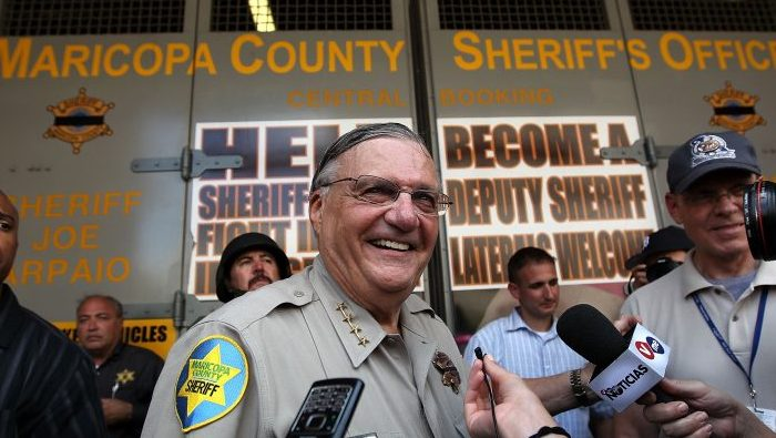 Maricopa County Sheriff Joe Arpaio stands in front of his county jail on July 29, 2010 in Phoenix, Arizona. (John Moore/Getty Images)