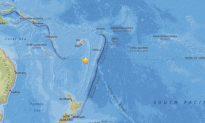 5.5-Magnitude Earthquake Hits South of Fiji Islands