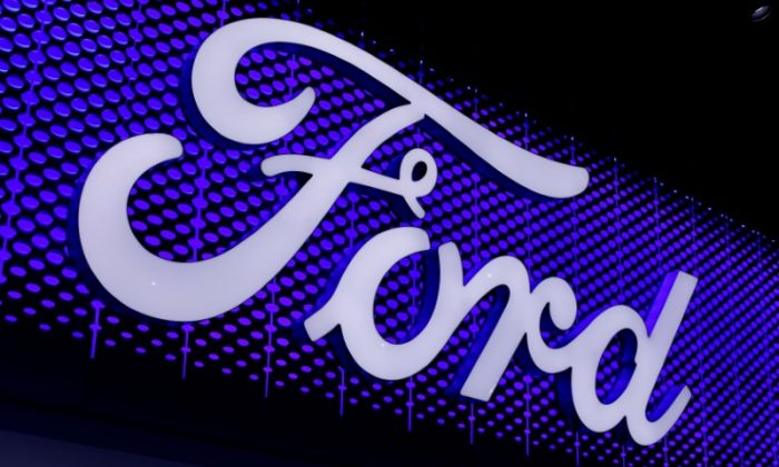The Ford Motor Company logo is pictured at the Los Angeles Auto Show in Los Angeles on Nov. 30, 2017.      (Reuters/Mike Blake/File Photo)