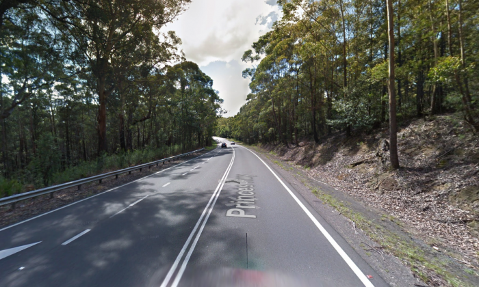 The Princess Highway in New South Wales, near the location where the Jess Falkholt was killed with her family.(Screenshot/GoogleMaps)