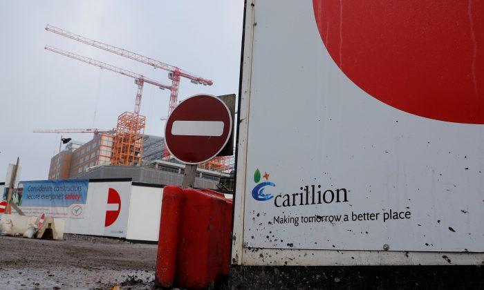 Carillion's Midland Metropolitan Hospital construction site in Smethwick, Britain Jan. 11, 2018. (Reuters/Darren Staples/File Photo)